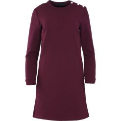 Ciemnofioletowa Sukienka January Rain. Fioletowe sukienki marki Born2be, l, midi, oversize. Za 49,99 zł.