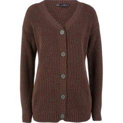 Sweter rozpinany melanżowy bonprix ciemnooliwkowy melanż. Zielone kardigany damskie bonprix, melanż. Za 49,99 zł.