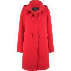 Płaszcz bonprix truskawkowy. Czerwone płaszcze damskie bonprix. Za 239,99 zł.