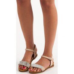 Sandały damskie: Płaskie sandały na co dzień RENDA odcienie brązu i beżu