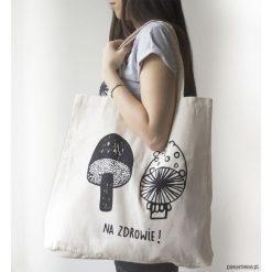 XL torba NA ZDROWIE!. Szare torby na ramię męskie Pakamera, z nadrukiem, z bawełny, na ramię. Za 60,00 zł.