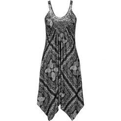 Sukienki asymetryczne: Sukienka bonprix czarno-szaro-kolorowy