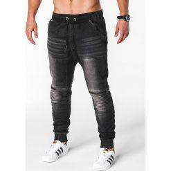 Spodnie męskie: SPODNIE MĘSKIE JEANSOWE JOGGERY P651 – CZARNE