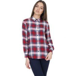 Koszule body: Elegancka koszula w kratę z długim rękawem BIALCON