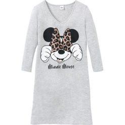 "Koszula nocna ""Myszka Minnie"" bonprix jasnoszary melanż z nadrukiem. Szare koszule nocne i halki bonprix, melanż. Za 54,99 zł."
