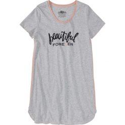 Bielizna damska: Koszula nocna bonprix jasnoszary melanż z nadrukiem