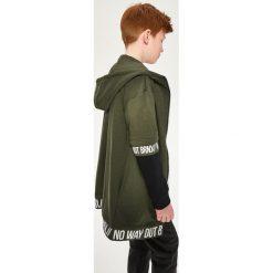 Odzież dziewczęca: Długa bluza z kapturem - Khaki