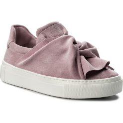 Półbuty BRONX - ByardenX 65913-CS Pink 91. Czarne półbuty damskie na koturnie marki Bronx, z materiału. W wyprzedaży za 299,00 zł.