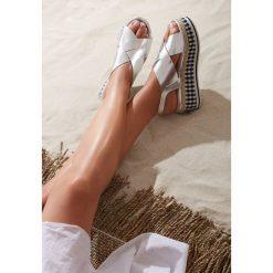 Sandały damskie: Srebrne Sandały Public Life