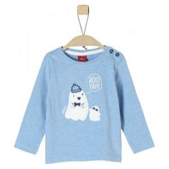 S.Oliver Koszulka Chłopięca 80 Niebieska. Białe t-shirty chłopięce z długim rękawem marki UP ALL NIGHT, z bawełny. Za 69,00 zł.