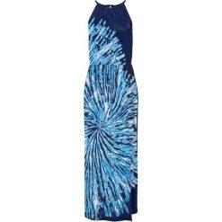 Długie sukienki: Sukienka bonprix głęboki morski - czarno-biały