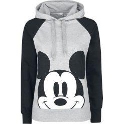 Myszka Miki i Minnie Mickey Face Bluza z kapturem damska jasnoszary melanż/czarna. Czarne bluzy rozpinane damskie Myszka Miki i Minnie, xl, melanż, z kapturem. Za 184,90 zł.