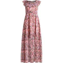 Długie sukienki: See u Soon RUFFLE NECK PAISLEY PRINT DRESS Długa sukienka coffee
