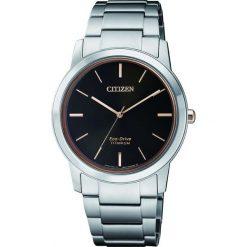ZEGAREK CITIZEN Titanium FE7024-84E. Czarne zegarki damskie CITIZEN, ze stali. Za 980,00 zł.