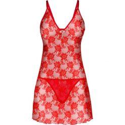 Koszule nocne i halki: Koszulka nocna + stringi (2 części) bonprix czerwony