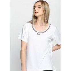 T-shirty damskie: Biały T-shirt Swash