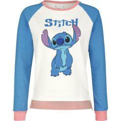 Lilo & Stitch Stitch Bluza damska wielokolorowy. Czerwone bluzy z nadrukiem damskie marki KALENJI, z elastanu, z krótkim rękawem, krótkie. Za 121,90 zł.