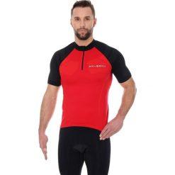 Koszulki sportowe męskie: Brubeck Koszulka rowerowa SS12390 czerwono-czarna r. XXL