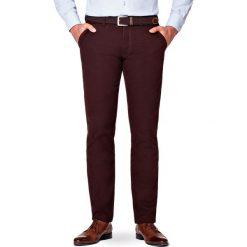 Spodnie Brązowe Chino Tommy. Brązowe chinosy męskie LANCERTO, w kolorowe wzory, z bawełny. Za 299,90 zł.