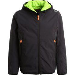 CMP BOY FIX HOOD Kurtka Softshell antracite/lime green. Szare kurtki chłopięce sportowe marki CMP, z elastanu. W wyprzedaży za 203,40 zł.