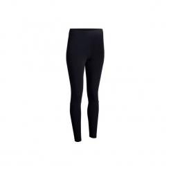 Legginsy slim Gym & Pilates 500 damskie. Czarne legginsy sportowe damskie marki Adidas, l, z bawełny. W wyprzedaży za 74,99 zł.