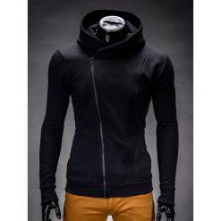 BLUZA MĘSKA ROZPINANA Z KAPTUREM PRIMO - CZARNA. Czarne bluzy męskie rozpinane marki Ombre Clothing, m, z bawełny, z kapturem. Za 75,00 zł.