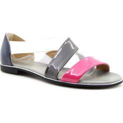 Rzymianki damskie: Sandały damskie na gumce kolorowe Jezzi