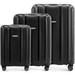 Zestaw walizek 56-3T-73S-10. Czarne walizki marki Wittchen, duże. Za 722,61 zł.