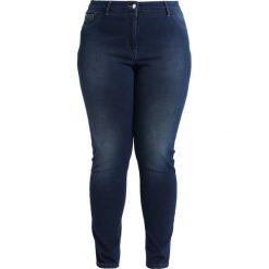 Persona by Marina Rinaldi Jegginsy mid blue denim. Niebieskie legginsy Persona by Marina Rinaldi, z bawełny. W wyprzedaży za 567,20 zł.
