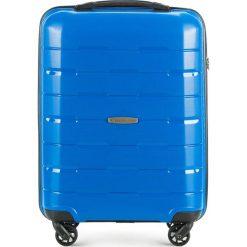 Walizka kabinowa 56-3T-721-95. Niebieskie walizki Wittchen, z gumy, małe. Za 199,00 zł.