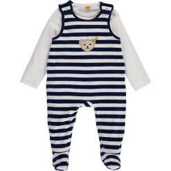 Pajacyki niemowlęce: 2-częściowy zestaw w kolorze granatowo-białym