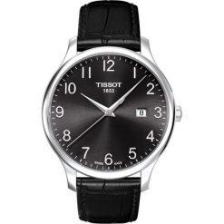 RABAT ZEGAREK TISSOT T - CLASSIC T063.610.16.052.00. Czarne zegarki męskie TISSOT, ze stali. W wyprzedaży za 1012,00 zł.