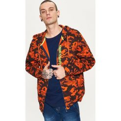 Bejsbolówki męskie: Bluza o kroju comfort - Pomarańczowy