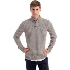 Sweter w kolorze szarym. Szare golfy męskie Polo Club, m, prążkowane. W wyprzedaży za 295,95 zł.