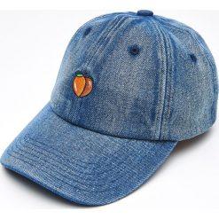 Czapki z daszkiem damskie: Czapka z daszkiem z haftem – Niebieski