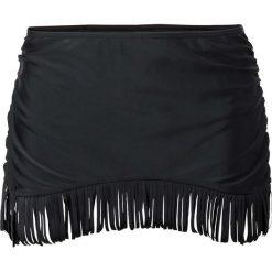 Figi bikini ze spódniczką bonprix czarny. Czarne bikini bonprix. Za 59,99 zł.