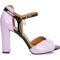 Sandały damskie: Liliowe sandały damskie