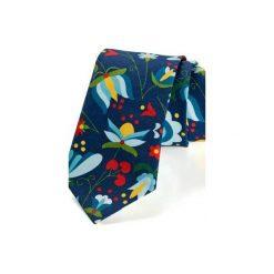 Krawat męski KASZUB ww wzór kaszubski biały. Niebieskie krawaty męskie HisOutfit, z materiału. Za 129,00 zł.