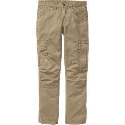 Spodnie bojówki Loose Fit Straight bonprix beżowy. Brązowe bojówki męskie marki bonprix. Za 149,99 zł.