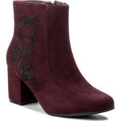 Botki JENNY FAIRY - WS2584A Bordowy. Czerwone buty zimowe damskie marki Jenny Fairy, z materiału. W wyprzedaży za 83,99 zł.