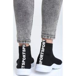 Czarne Sneakersy Positive Vibration. Czarne sneakersy damskie marki Born2be, z materiału. Za 79,99 zł.