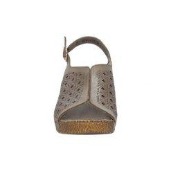 Sandały Rieker  SANDAŁY  65696-62. Czarne sandały damskie marki Rieker, z materiału. Za 169,99 zł.
