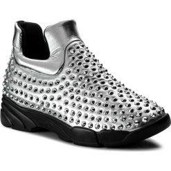 Sneakersy PINKO - Gem 6 Al 17-18 BLKS1 1H20BB Y3QP Silver ZZF. Szare sneakersy damskie Pinko, z materiału. W wyprzedaży za 849,00 zł.