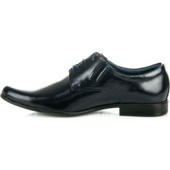 Wizytowe męskie skórzane buty. Niebieskie buty wizytowe męskie LUCCA. Za 199,00 zł.