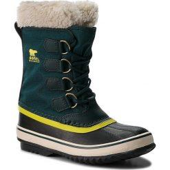 Śniegowce SOREL - Winter Carnival NL1495 Dark Seas 375. Zielone buty zimowe damskie Sorel, z gumy. Za 499,99 zł.