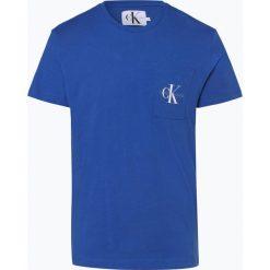 Calvin Klein Jeans - T-shirt męski, niebieski. Niebieskie t-shirty męskie Calvin Klein Jeans, l, z jeansu. Za 129,95 zł.