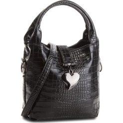 Torebka JENNY FAIRY - RC11808A Black. Czarne torebki klasyczne damskie marki Jenny Fairy, ze skóry ekologicznej, bez dodatków. Za 89,99 zł.