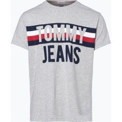 Tommy Jeans - T-shirt męski, szary. Szare t-shirty męskie z nadrukiem Tommy Jeans, m, z jeansu. Za 179,95 zł.