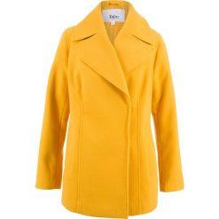 Kurtki damskie: Kurtka ze sztucznej wełny bonprix żółty szafranowy