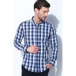 Niebieska Koszula At Last. Czarne koszule męskie marki Born2be, m, z nadrukiem, z dresówki, z kapturem. Za 34,99 zł.